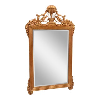 French Giltwood Beveled Mirror With Hot Air Balloon Frieze For Sale