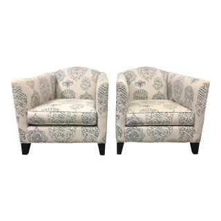 Mitchell Gold Celia Arm Chairs, a Pair For Sale