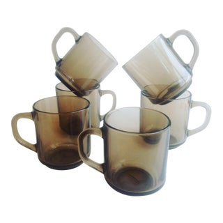 Arcoroc France Stackable Mug-Coffee and Tea - Set of 6 For Sale