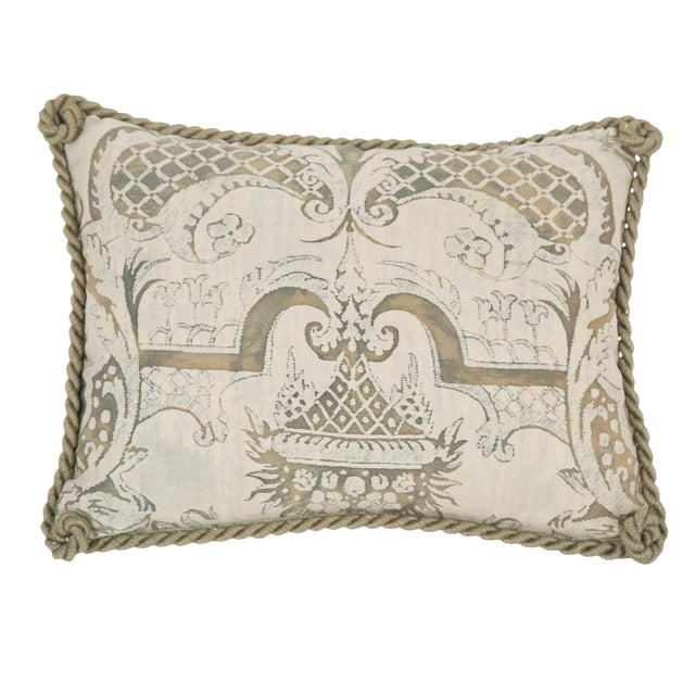 Small Fortuny Fabric Pillow For Sale