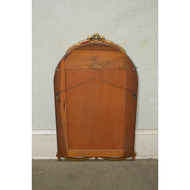 1930s Partial Gilt Frame Hanging Wall Mirror For Sale - Image 4 of 10
