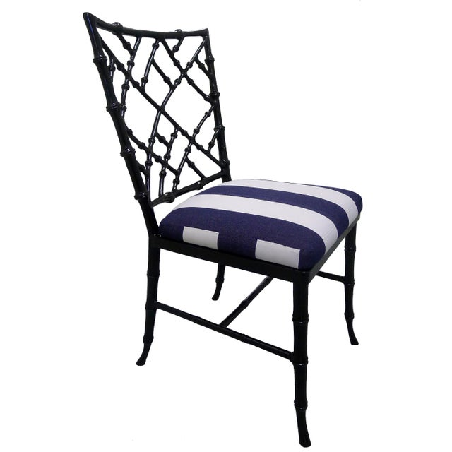 Kessler Black Bamboo-Style Dining Chairs - Set of 6 - Image 4 of 7
