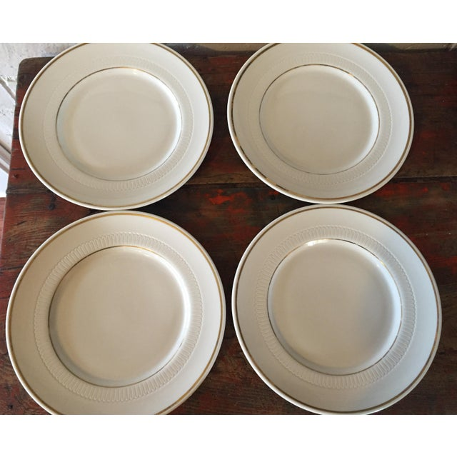 Vintage Restaurant Ware White & Gold Plates - Set of 4 - Image 4 of 9