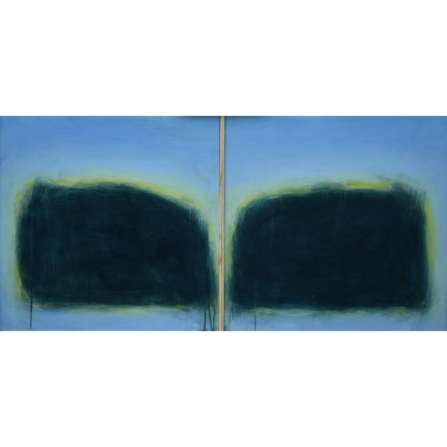 "Modern ""Touch, Summer Morning"" Abstract Diptych by Stephen Remick For Sale - Image 13 of 13"