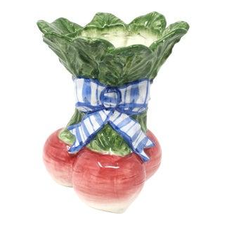Vintage 1995 Fitz & Floyd Radishes Vegetable Garden Utensil Holder For Sale