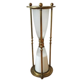 Brass Sand Timer Side Table For Sale