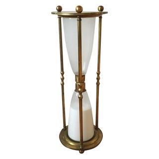Brass Sand Timer Side Table For Sale