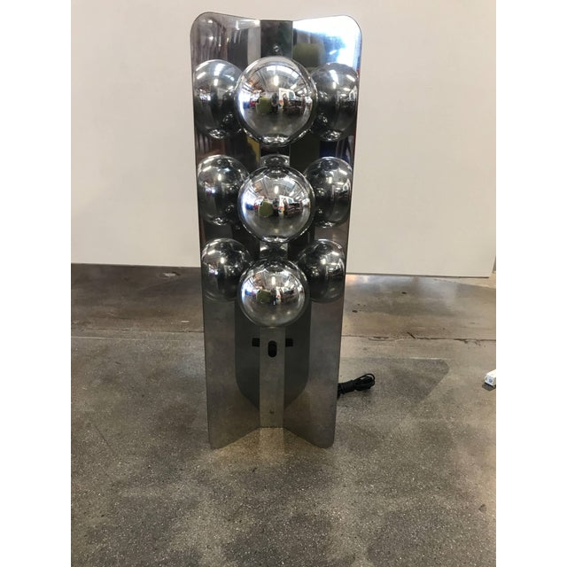 Chrome Lamp With Three Large Bulbs For Sale In Palm Springs - Image 6 of 10
