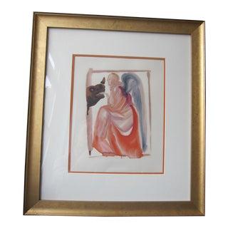 Salvador Dali Dante's Divine Comedy Paradise Canto 6 Woodblock Print For Sale