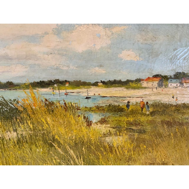 French Seascape Painting by Lois Clark, Framed For Sale - Image 4 of 13