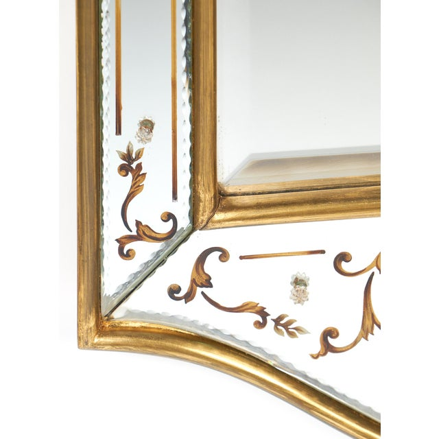 Vintage French Eglomisé Mirror For Sale - Image 10 of 10