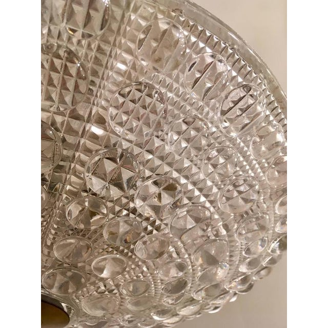 Swedish Orrefors Fagerlund Crystal Glass Pendant For Sale In New York - Image 6 of 7