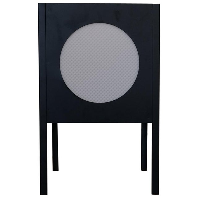 Black Metal Cube Lamp, 1960s For Sale - Image 8 of 8