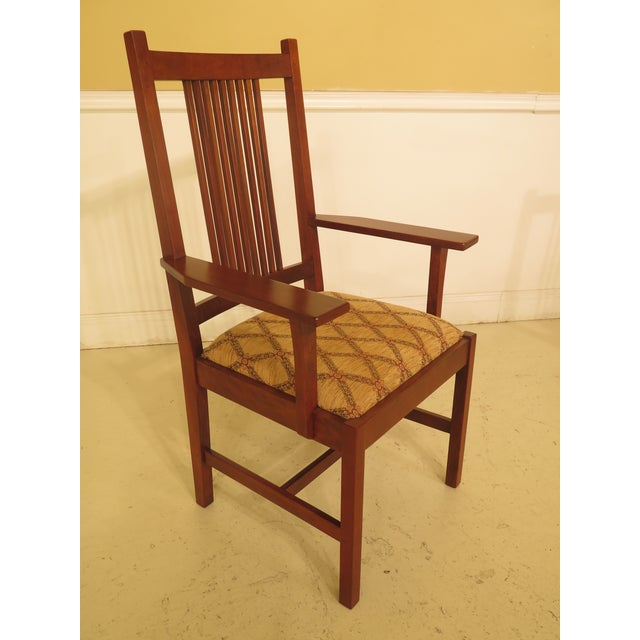 Set of 8 Stickley Mission Cherry Dining Room Chairs- Set of 8