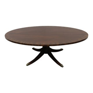 Hekman Oval Banded Mahogany Coffee / Cocktail Table For Sale