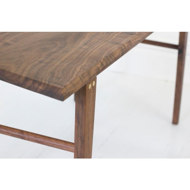 Minimalist Solid Claro Walnut Geometric Coffee Table For Sale - Image 5 of 6