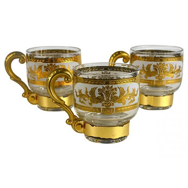 Italian Golden Pitcher & Three Mugs - Image 2 of 7