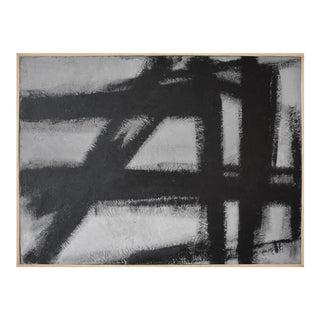 Large Black Grey Concrete Art, Textural Painting, Abstract, Abstract Art, Industrial Art, Industrial Art For Sale
