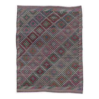 Turkish Embroidered Kilim Rug For Sale