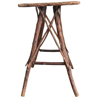 Vintage Adirondack Style Rustic Twig Table For Sale