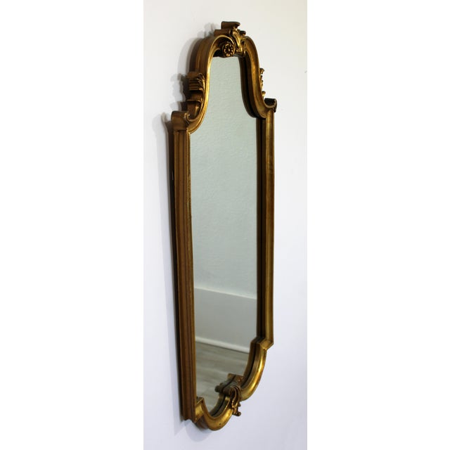 Mid-Century Modern Mid Century Modern Large Hollywood Regency Gold Gilt Wall Mirror La Barge Style For Sale - Image 3 of 8