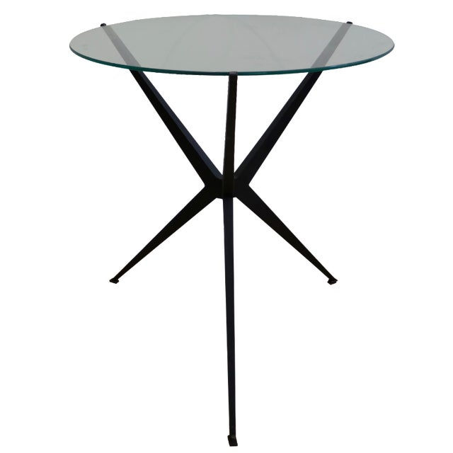 Iron Base Side Table - Image 1 of 3