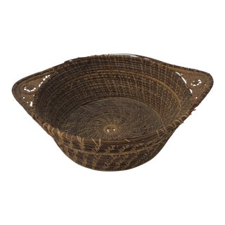 Vintage Pineneedle Decorative Artisanal Basket