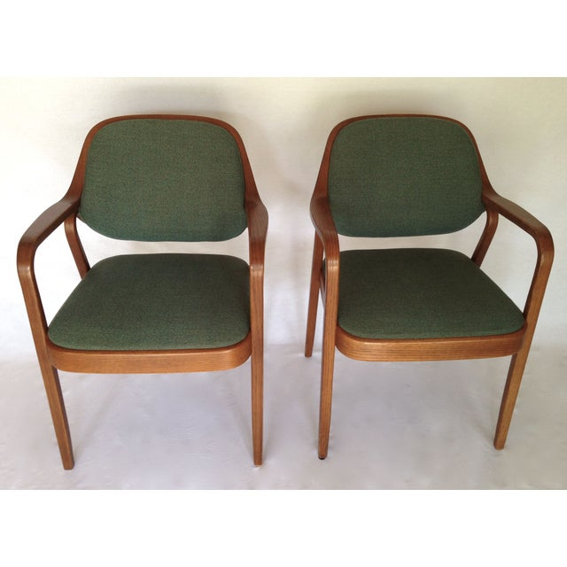 Knoll Bentwood Armchairs by Don Petitt- a Pair - Image 3 of 6