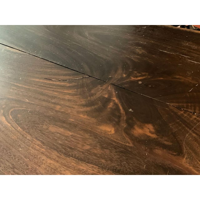 Industrial Viento Ray Dark Steel and Reclaimed Wood Dining Table For Sale In New York - Image 6 of 13