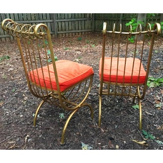 Gilt Iron Side Chairs by Salvadori - Set of 2 Preview