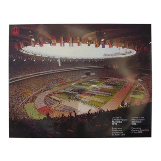1976 Montreal Olympics Poster, Opening Panorama Shot (Large) For Sale