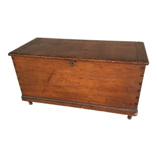 Antique Pine Dovetailed Blanket Chest For Sale
