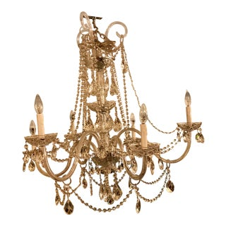 Vintage Murano Glass and Swarovski Crystal Chandelier For Sale