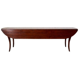 Mahogany Drop-Leaf Hunt Dining Table or Console For Sale
