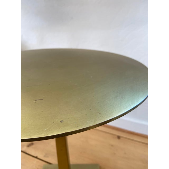 Made of antique brass. Made in the 2010s. Dimensions (in): 15W X 15D X 20H Weight (lbs): 17