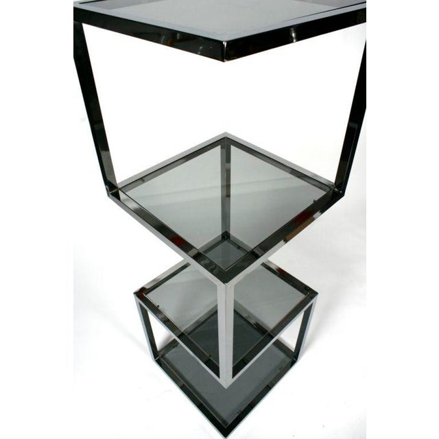 1970s Asymmetrical Stacked Cubes Etagere after Milo Baughman - Set of 3 For Sale - Image 5 of 7