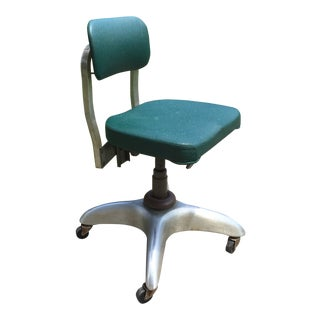 Industrial Rolling Office Chair Contemporary Green Atomic Office Chair Good Form Tankard General Fireproofing Co ReFabulous ReFabulousReVamped For Sale