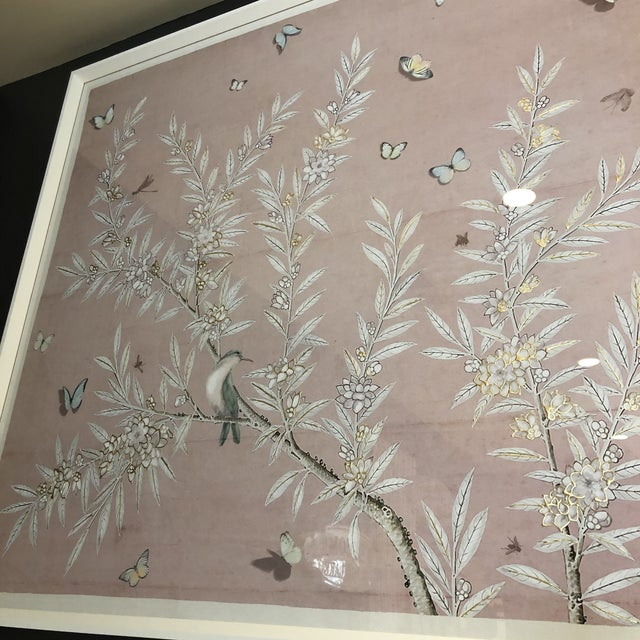 Chinoiserie Art in Blush Print from Kenneth Ludwig Home For Sale - Image 9 of 11