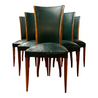 French 1940s Dining Chairs Set of 6 For Sale