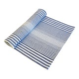 "Image of Blue & White Striped French Country Table Runner 110"" Long For Sale"