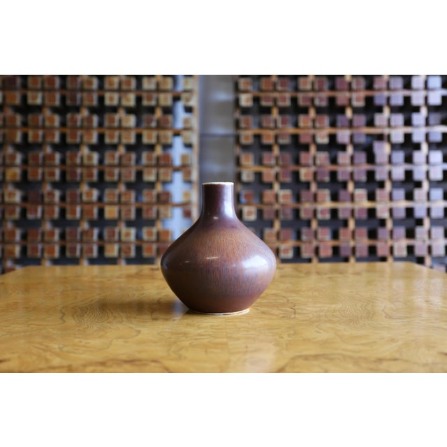 Mid Century Carl-Harry for Rörstrand Stålhane Vase For Sale In Los Angeles - Image 6 of 7