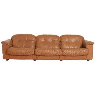 Vintage Mid-Century De Sede Leather Sofa For Sale