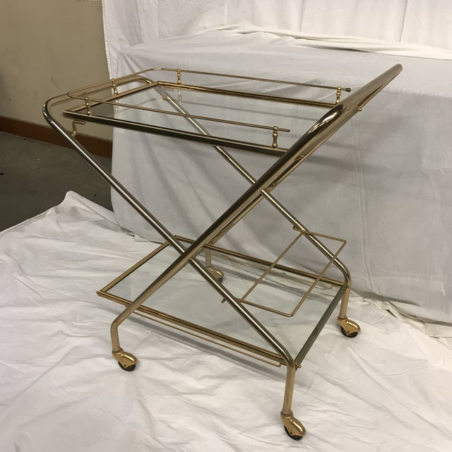 Mid-Century French Bar Cart - Image 2 of 8