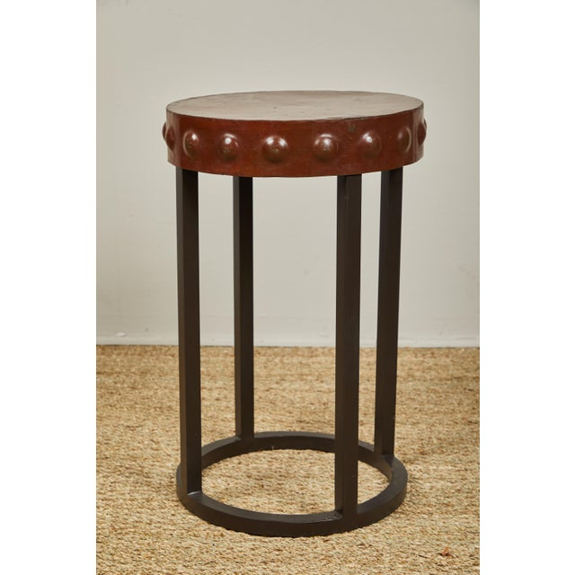 Mid 20th Century Primitive Iron Side Tables For Sale - Image 5 of 9