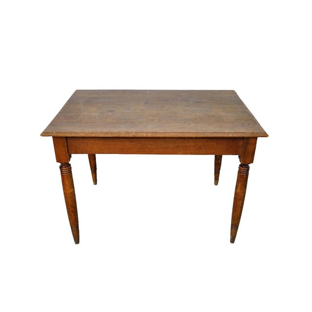 Vintage French Oak Farmhouse Dining Table For Sale - Image 9 of 9