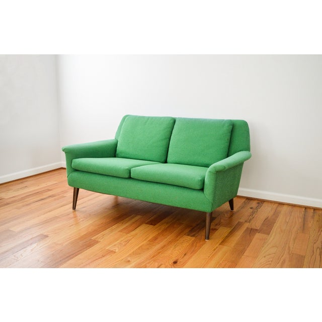 Mid-Century Folke Ohlsson Green Loveseat Sofa For Sale - Image 4 of 8