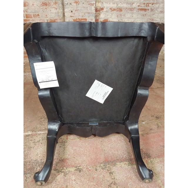Black Ralph Lauren -Gorgeous Georgian Armchair W/Black Faux Alligator For Sale - Image 8 of 10