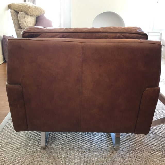 Timothy Oulton Modern Leather Club Chairs - A Pair - Image 6 of 8