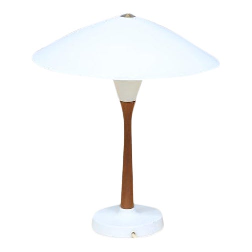 Chinese Hat Style Scandinavian Table Lamp For Sale