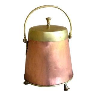 Kindling Bucket, Copper & Brass, 1870s For Sale